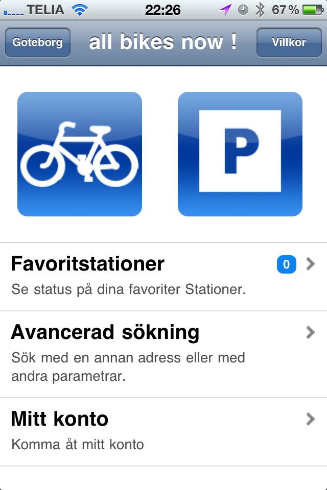 all bikes now - App för styr och ställ