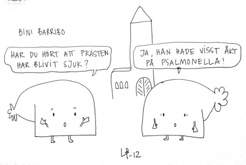 Bini Barribo - Göteborgsvits - Salmonella