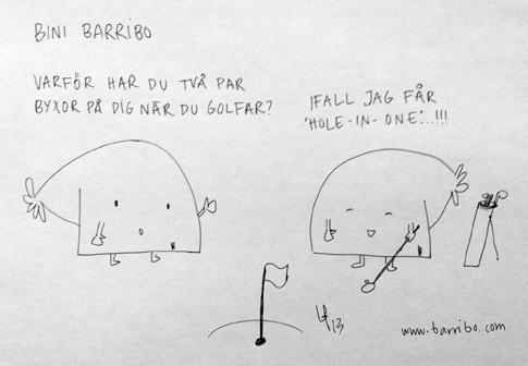 BiniBarribo - Golf - Göteborgsvits - Lina Barryd