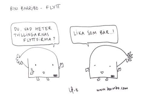 Bini Barribo - Flytt - Lina Barryd - Göteborgsvits