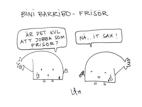 Göteborgsvits Frisör Bini Barribo Lina Barryd