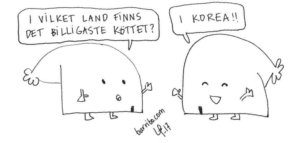 Göteborgsvits kött korea barribo