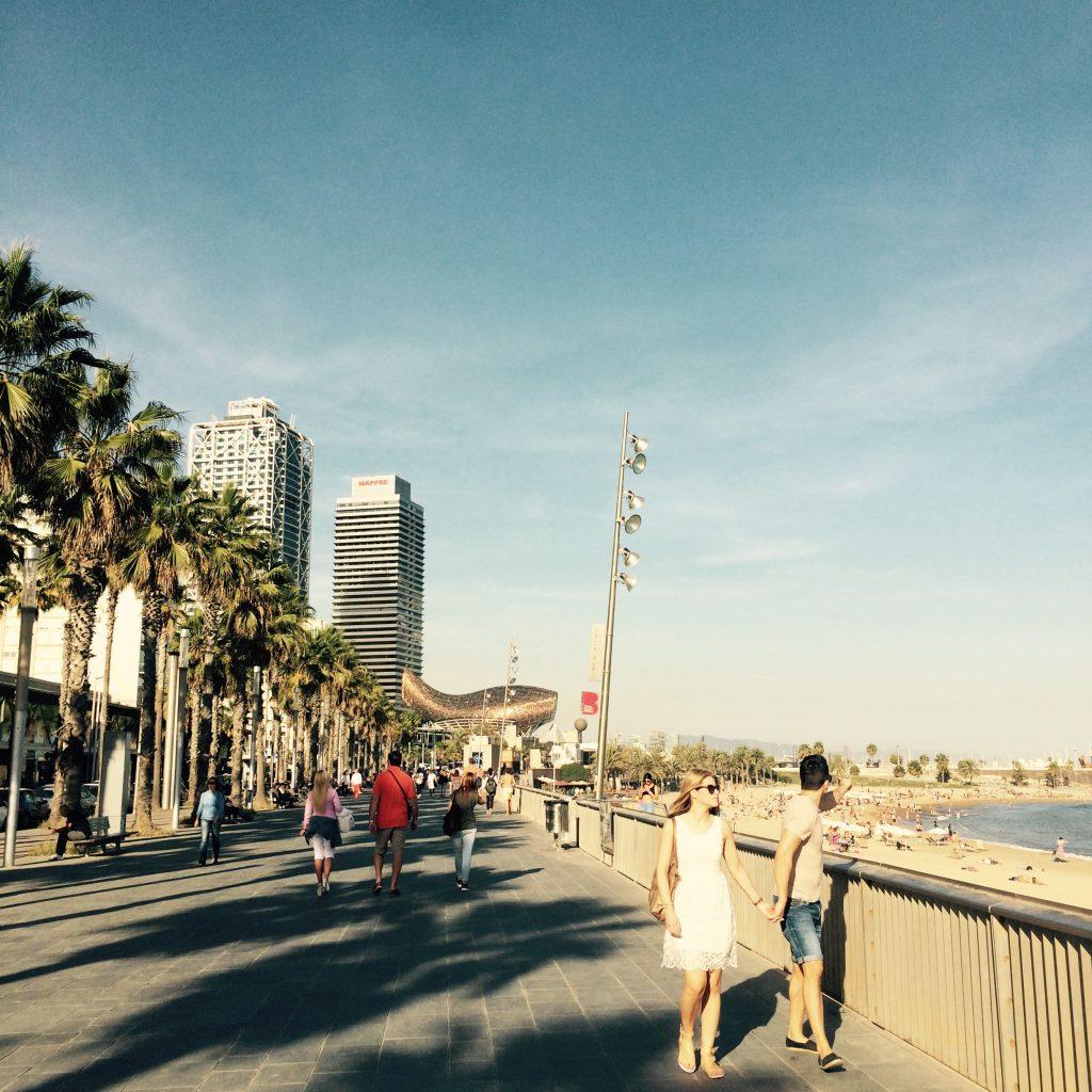 Strandpromenad Barcelona Barribo IMG_1052