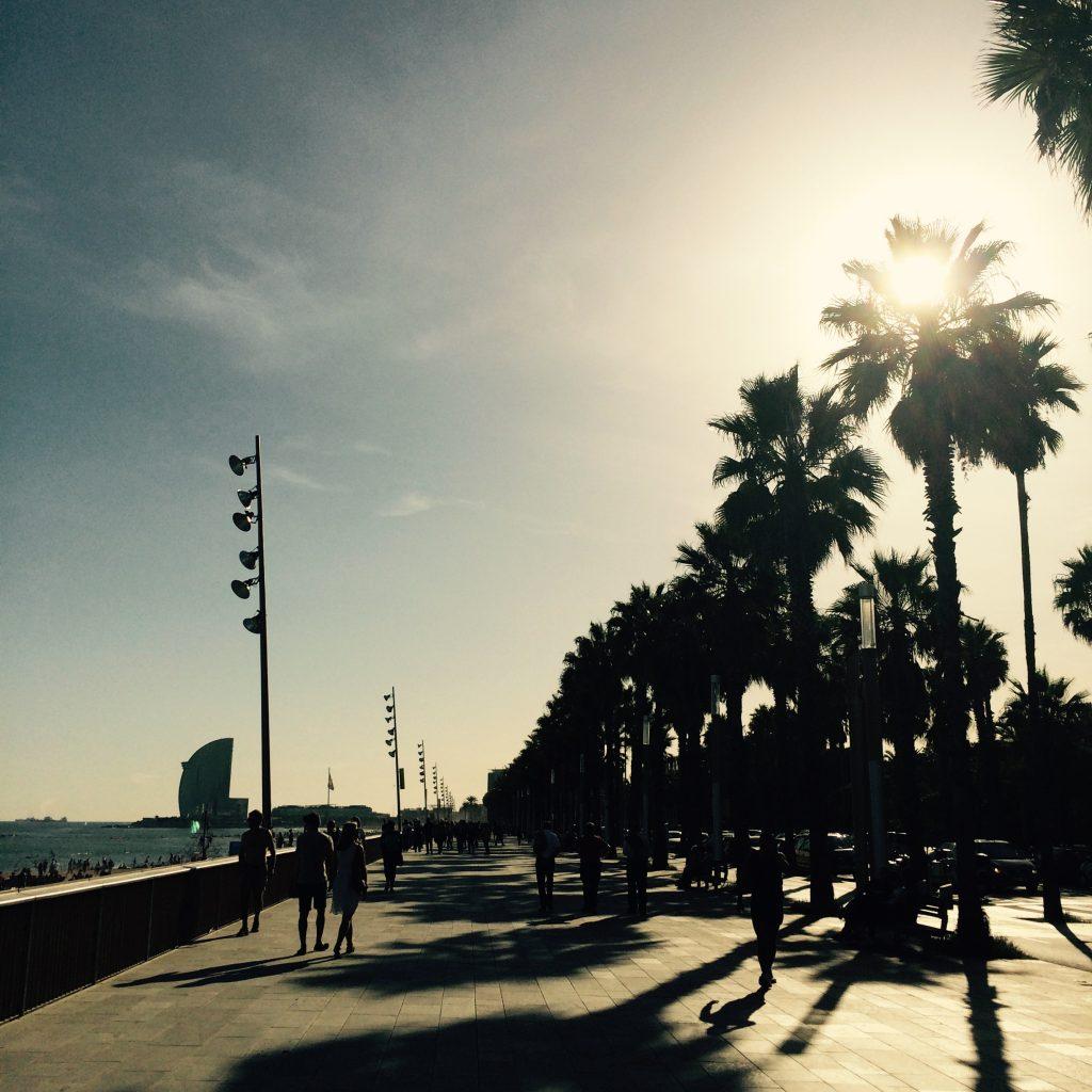 Strandpromenad Barcelona Barribo