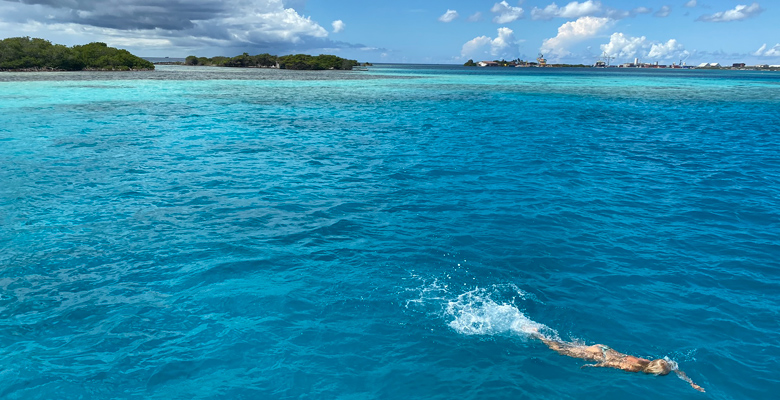 Snorkla på Aruba.
